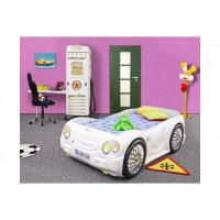 Inlea4Fun gyerekágy Sleepcar - Fehér