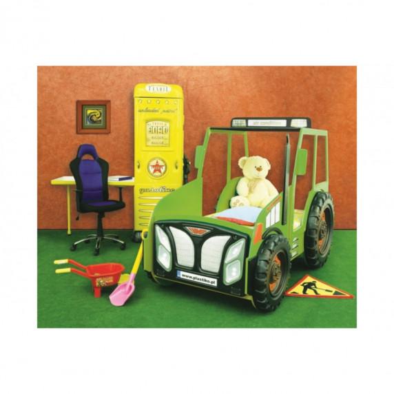 Inlea4Fun gyerekágy Traktor - Zöld
