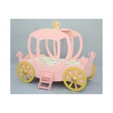 Inlea4Fun Hercegnő hintó gyerekágy - rózsaszín Előnézet