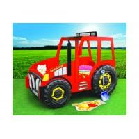 Inlea4Fun gyerekágy Traktor - Piros