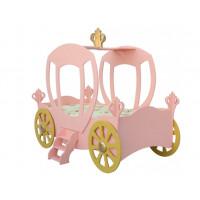 Hercegnő hintó gyerekágy Inlea4Fun - rózsaszín