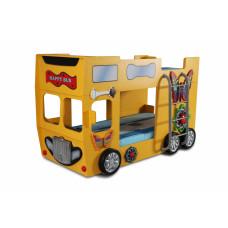 Gyerekágy Inlea4Fun Happy Bus  - Sárga Előnézet