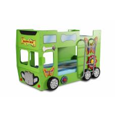 Gyerekágy Inlea4Fun Happy Bus  - Zöld Előnézet