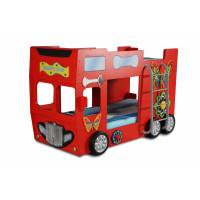 Gyerekágy Inlea4Fun Happy Bus - Piros