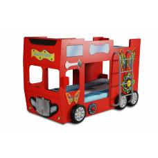 Gyerekágy Inlea4Fun Happy Bus - Piros Előnézet