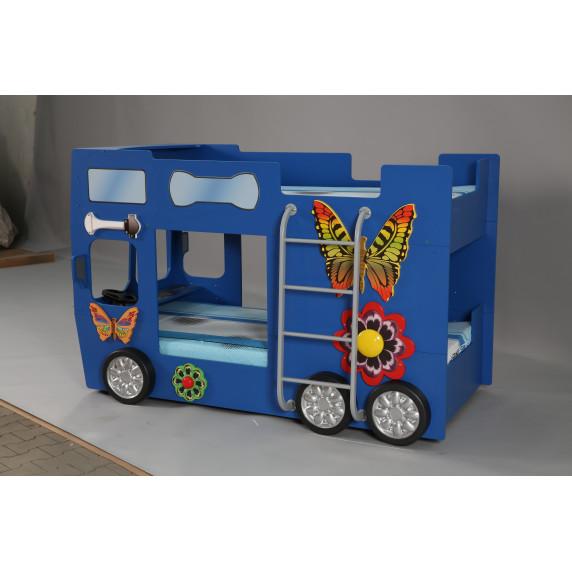 Gyerekágy Happy Bus Inlea4Fun  - Kék