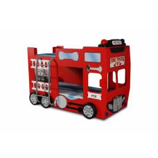 Tűzoltóautó emeletes gyerekágy Inlea4Fun Előnézet