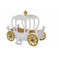 Hercegnő hintó gyerekágy Inlea4Fun - fehér