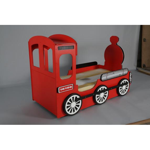 Gyerekágy Mozdonyos Inlea4Fun - Piros