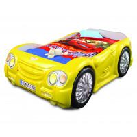 Gyerekágy Sleepcar Inlea4Fun - Sárga