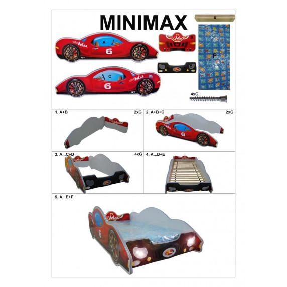 Gyerekágy Inlea4Fun Minimax - kicsi - Kék