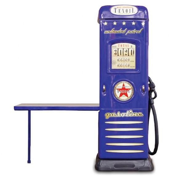 Inlea4fun szekrény íróasztallal Benzinkút  - Kék