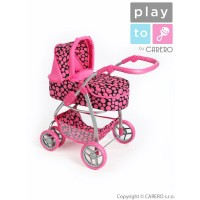 Játék babakocsi multifunkcionális PLAY TO Jasmin - rózsaszín