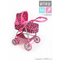 PLAY TO Jasmin Multifunkcionális játék babakocsi - rózsaszín Előnézet