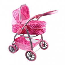 PLAY TO Jasmin Multifunkcionális játék babakocsi - világos rózsaszín Előnézet