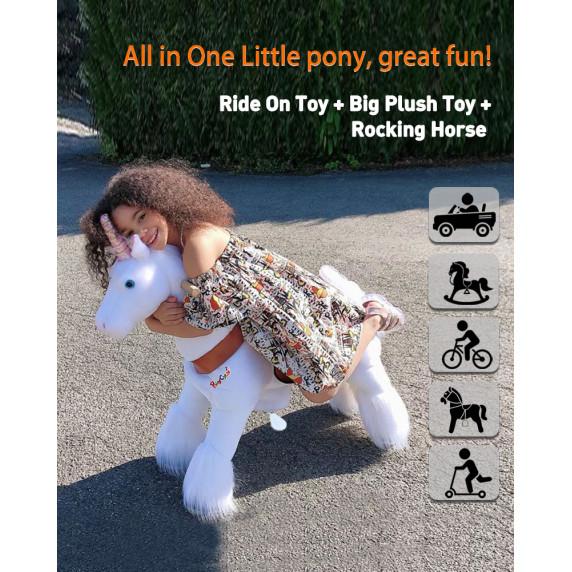 Vágtázó póni PonyCycle 2021 White Unicorn - Kicsi