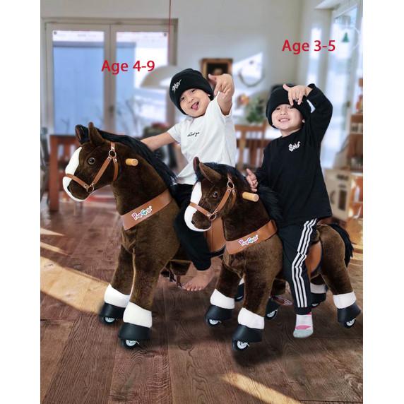 Vágtázó póni PonyCycle 2021 sötét barna foltos - Kicsi