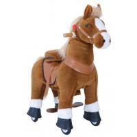 Vágtázó póni PonyCycle 2021 világos barna foltos - Kicsi