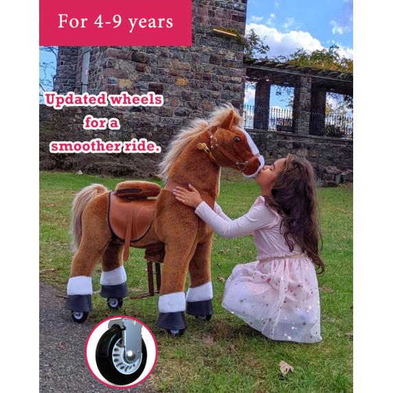 Vágtázó póni PonyCycle 2021 Világos barna foltos - Nagy