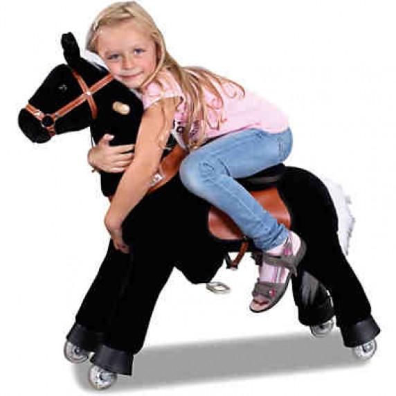 PonyCycle vágtázó póni fekete - Kicsi