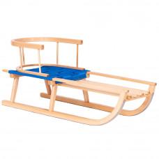 Inlea4Fun GRONIK gyerek fa szánkó háttámlával, puha ülőrésszel Előnézet