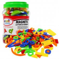 Színes mágneses betűk és számok 128 db Inlea4Fun Előnézet