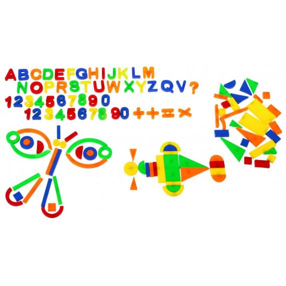Színes mágneses betűk és számok 128 db Inlea4Fun