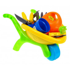 Inlea4Fun Játék kertész talicska kiegészítőkkel Előnézet