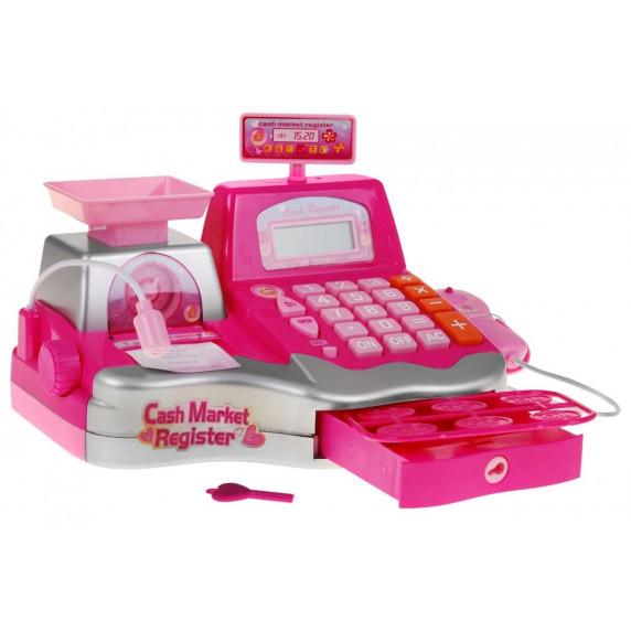 Inlea4Fun Cash Register Játék pénztárgép - Rózsaszín