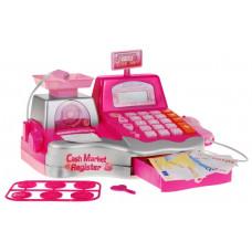 Inlea4Fun Cash Register Játék pénztárgép - Rózsaszín Előnézet