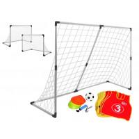 Inlea4Fun SOCCER Goal AJ2262 focikapu szett 2az1-ben + tartozékok