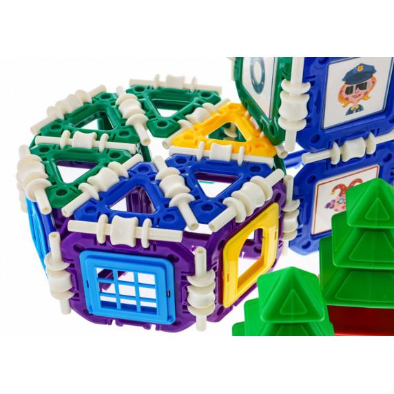 Építőjáték Inlea4Fun BUCKLE BUILDING BLOCKS - 252 darabos