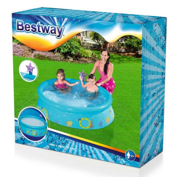 BESTWAY 57326 RYB medence tengericsillagos zuhanyzóval