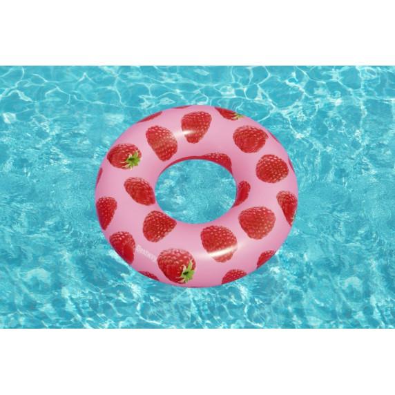 Felfújható kerek úszógumi málna mintás 119 cm Bestway 36231