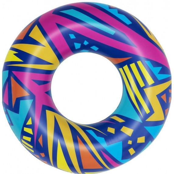 Geometriai mintázatú úszógumi 107 cm Bestway 36228 - Kék