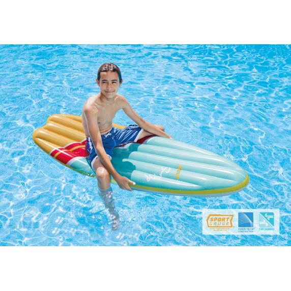 Felfújható szörfdeszka INTEX SURFS UP - Kék/sárga