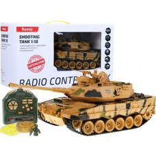RC Tank Leopard II homokszinű terepmintás 1:18 Előnézet