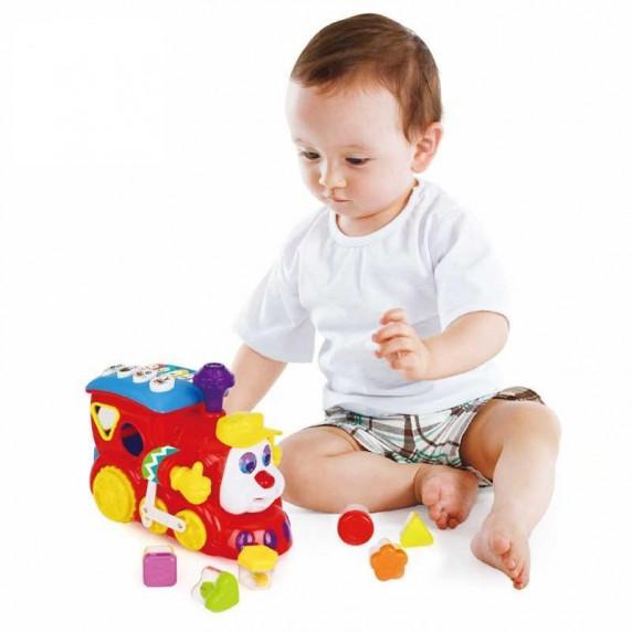 Formabedobós játékvonat HOLA Learning Loco