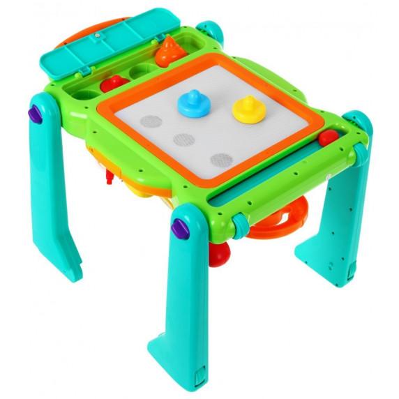 HOLA Készségfejlesztő járássegítő és asztal 4az1-ben hang- és fényeffektekkel