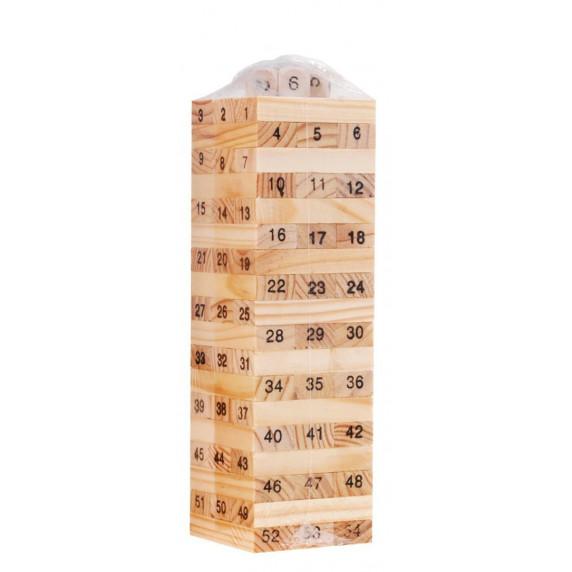 Jenga fa torony társasjáték Inlea4Fun Wiss Toy