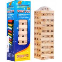Inlea4Fun Wiss Toy Jenga fa torony társasjáték