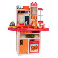Inlea4Fun MODERN KITCHEN játékkonyha 65 kiegészítővel - piros
