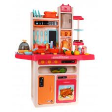 Inlea4Fun MODERN KITCHEN játékkonyha 65 kiegészítővel - piros Előnézet