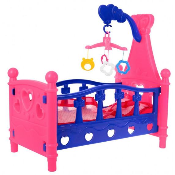 Játék babaágy Inlea4Fun SLEEPING BED - rózsaszín