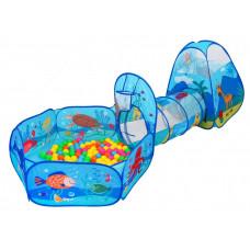 Játszóház alagúttal, száraz medencével és labdákkal Inlea4Fun TENT INTERESTING  Előnézet
