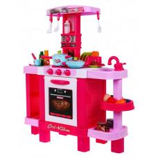 Inlea4Fun KIDS COOK Játékkonyha hang- és fényeffektekkel kiegészítőkkel - rózsaszín Előnézet