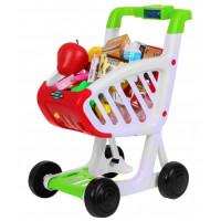Bevásárlókocsi élelmiszerekkel Inlea4Fun KIDS SUPERMARKET