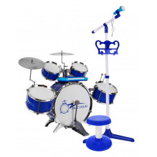 Inlea4Fun JAZZ DRUM Játék dob felszerelés - kék Előnézet