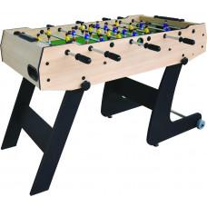 Inlea4Fun Asztali foci csocsó asztal 121x61x81 cm - fautánzat Előnézet