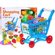 Inlea4Fun Bevásárlókosár zöldséggel és gyümölccsel - kék Előnézet